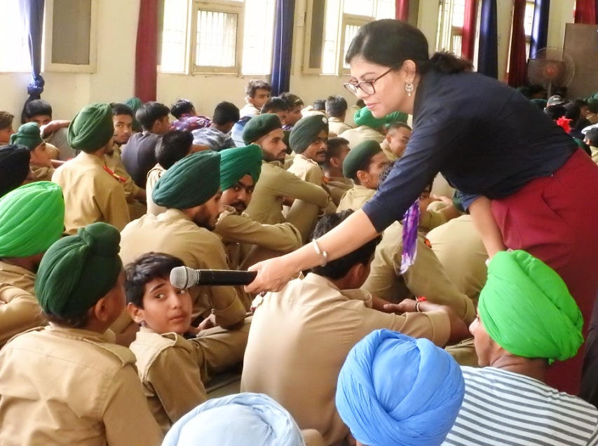Workshop on Character Building for 500+ NCC Cadets.